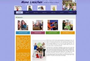 Mona Lieschen homepage screenshot